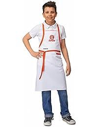 SIGGI Horeca - MasterChef Junior–Delantal oficial–Para niño, unisex, color blanco