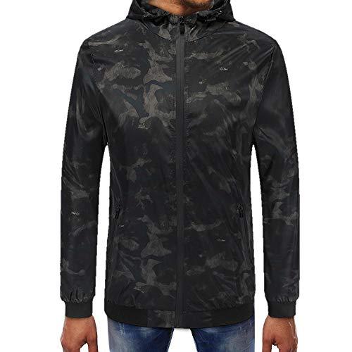 Camouflage Zipper Pullover Langarm Kapuzenpullover Oberteile Online Herren