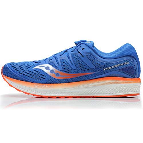 Saucony Triumph ISO 5, Zapatillas de Running por Hombre, Azul (Blue/Orange), 42.5 EU