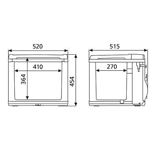 Waeco 9105303377 CoolFun CK 40D Hybrid Kompressor- / Thermoelektrische Kühlbox für 12 und 230 Volt, A+