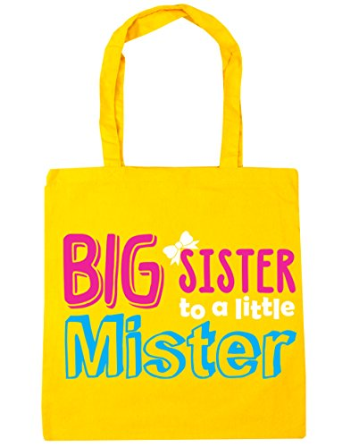 10 litres Big Sister to a Little Mister Tote Shopping Gym Beach Bag 42cm x38cm
