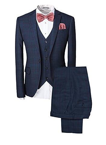 Haut de costume trois-pièces veste +gilet +pantalon affaires décontraction mariage et animateur
