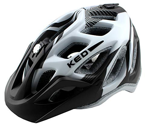 K-E-D KED Fahrradhelm Trailon, Größe M, Kopfumfang 52-58 cm, Black Pearl Matt, Extrem gut belüfteter All-Mountain Helm in robuster maxSHELL- Technologie - Made in...