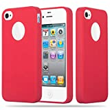 Cadorabo Coque pour Apple iPhone 4 / iPhone 4S en Candy Rouge – Housse Protection...