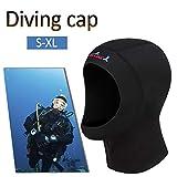 Ethic 1 MM Tauchhaube Neopren Warme Neoprenanzug Cap Haar Kopfschutz Sonnenschutz Schnorcheln Hut zum Schwimmen Surfen Norkel Unterwasser Scuba