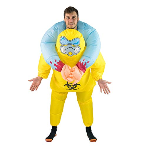 Bodysocks Fancy Dress Aufblasbares Huckepack Kostüm Biohazard (Fancy Dress Gasmaske)