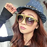 Fashnopolism Oversized Sunglasses Yellow...