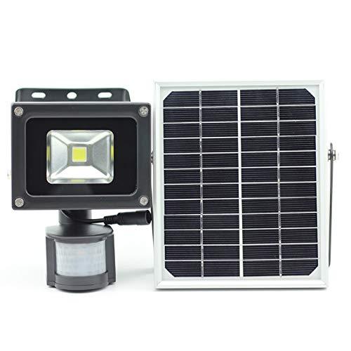 XYQY 10W Abendessen LED Sicherheit Licht Solar Bewegung Sensor Licht Nachtlicht High-Low-Power dimmbar Ein-/Ausschalten automatisch 10w warmweiß 3000K