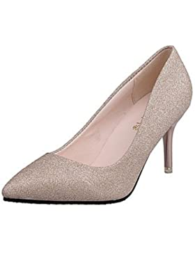 RTRY Donna Comfort Tacchi Estate Abito Pu Stiletto Heel Silver Gold 2A-2 3/4In Oro Us6 / Eu36 / Uk4 / Cn36