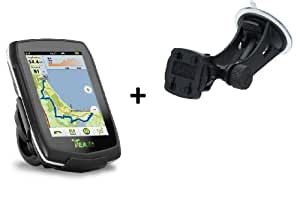 BUNDLE Teasi one Navigation Wandernavigation GPS Geocaching + Fix Stand Saugnapfhalter