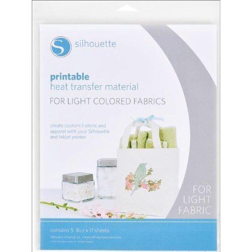Silhouette Matériau Imprimable pour Transfert à Chaud sur Tissus clairs