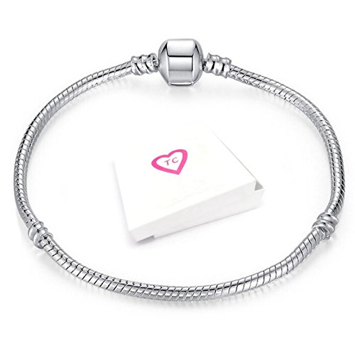 18cm Silver Charm Bracelet For Pandora Style European Charms Gift Boxed By Truly Charming®