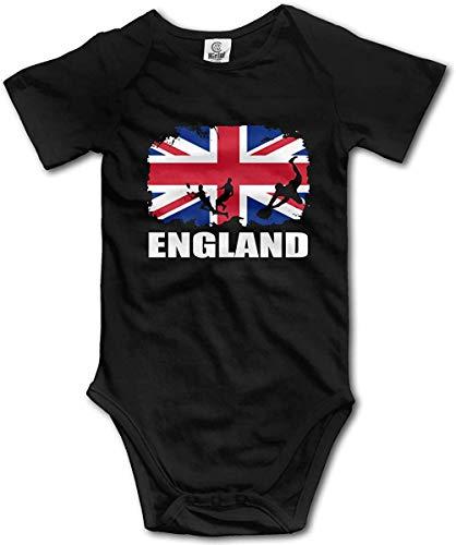 WlQshop Unisex-Baby Kurzarm Body, England African Flag Football Rugby Newborn Baby Bodysuit Short Sleeve Infant Cotton Bodysuits