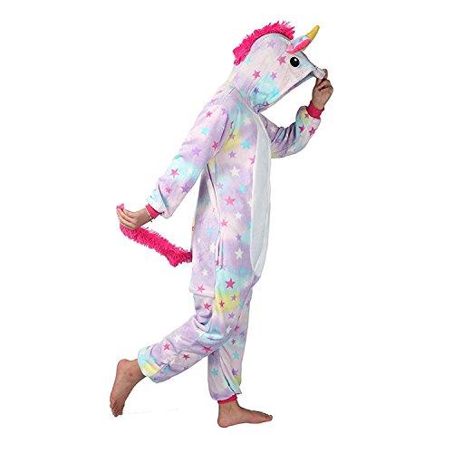 Einhorn Pyjama für Erwachsene (S, Star)