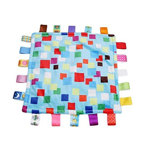 Baby Boy Tag Couverture de sécurité - Colorful sécurité en peluche Consolateur Couvertures Tag, chaud et sécurité Safe Blanket Jouet meilleur cadeau de douche pour bébé