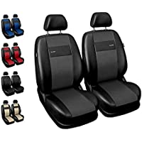 Sitzbezüge Auto Vordersitze Universal Autositzbezüge Schonbezüge Vorne mit Airbag System X-Line - Grau
