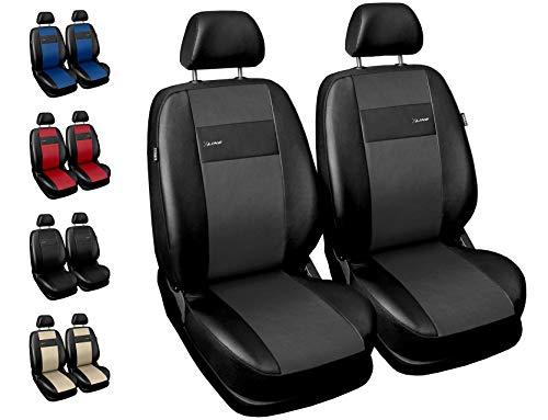 Carpendo Sitzbezüge Auto Vordersitze Autositzbezüge Schonbezüge Vorne mit Airbag System X-Line - Grau