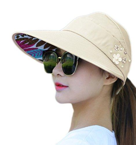 Nikgic Faltbare Sonnenhut Damen UV-Schutz Hüte Sonnenschutz Sonnenhut Anti-UV Strandhut Mützen Fischenhut Sonnenhut Hut Sport Cap für Wandern