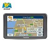 Tobetree MT988 - GPS Coches, 5' Navegador GPS Para Coche Bluetooth De Mapa De Europa Toda La Vida
