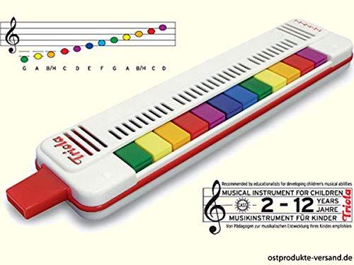 Ostprodukte-Versand.de Triola Blas-Harmonika 12 Tasten | Ossi Artikel | für Ostalgiker | DDR Produkte