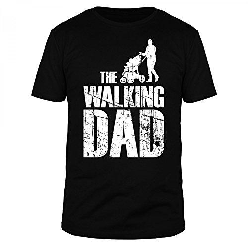 FABTEE - The Walking Dad - Herren T-Shirt Größen S-4XL, Größe:S, Farbe:Schwarz (Walking Dead Sachen)