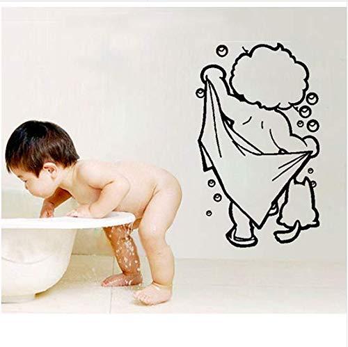 immer Baby Dusche Wandaufkleber Badezimmer Dekor Wc Tür Vinyl Aufkleber Dekoration Wandtattoos Wandbild Für Badezimmer ()