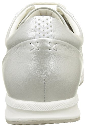 Geox D Avery A, Sneakers Basses Femme Argent (PLATINUMC2010)