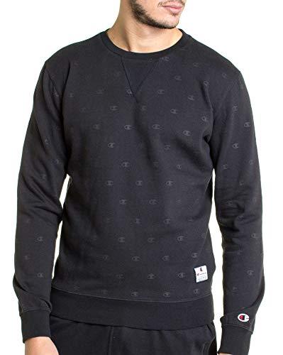 Champion Reverse Weave Herren Crewneck Sweatshirt, Schwarz (NBK/Allover Fb000601 Kl001), X-Large
