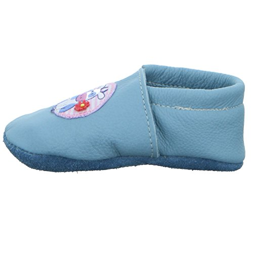 Trostel 9200 Motiv Kuh mit Blume Nr. 56 9200 KUH M.BLUME Unisex Kinder Babyschuhe Kaltfutter Blau (Blau)