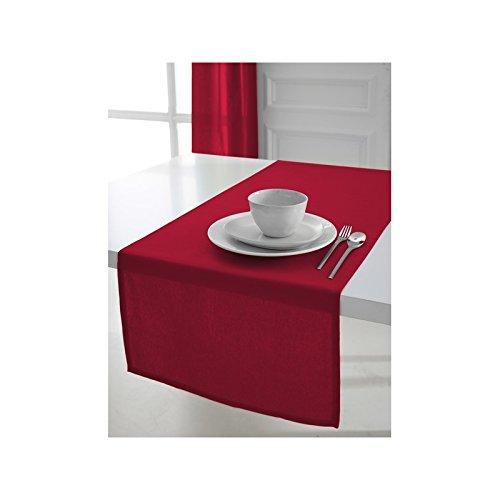Today 257551camino de mesa de algodón, 50x 150cm, algodón, Pomme d'amour/Rouge, 50x150 cm