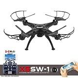 FairytaleMM X5SW-1 6-Achsen-Gyro RC Quadcopter 2.4G 4 CH Drone mit 0.3MP WiFi FPV Kamera (Farbe: schwarz)