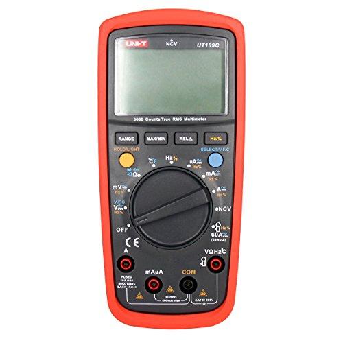 UNI-T UT139C Verdadero RMS LCD multímetro Digital Eléctrico Handheld Tester Amperímetro Multimetro Automático Comprobador de Gama