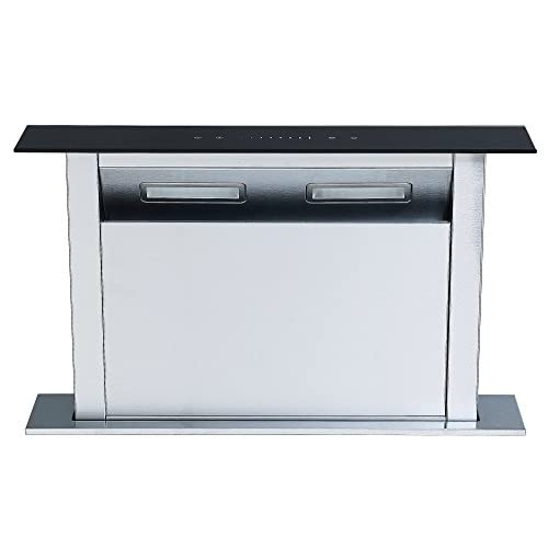 41L8c8DggoL. SS500  - Cookology Downdraft Extractor Fan 60cm Kitchen Island Cooker Hood (Stainless Steel & Black)