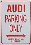 AUDI Parking Only - Miniatur-Parkschilder, Ideales Geschenk für den Motorsport-Enthusiasten
