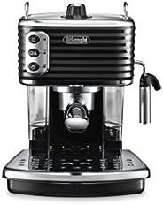 De'Longhi Scultura Traditional Barista Pump Espresso Machine, Coffee and Cappuccino Maker, ECZ351BK, B