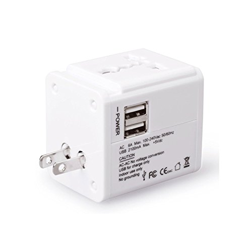 Preisvergleich Produktbild MOCREO 2-Port USB Ladegerät Ladeadapter Multiport Adapter Wall Charger für iPad Air, iPad Mini; iPhone 5S 5 4S; Samsung Galaxy S4 S3 Note 3 Note 2; Smartphones & Tablets und andere) USB-ladende Geräte EU-Stecker 15W 5V / 3.1A