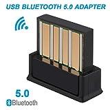 Innovateking-EU Adattatore USB Bluetooth 5.0 Ricevitore Wireless Dongle di trasferimento per PC Portatile Audio Supporto Windows 10 8.1 8 7 XP Vista