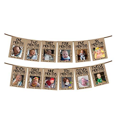 Xeples Foto Banner Baby Geburtstag Handabdruck Fußabdruck Postkarten Bilder Bunting Banner Girlande