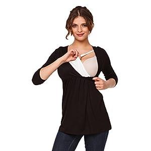 Happy-Mama-Premam-Top-Camiseta-de-lactancia-efecto-2-en-1-para-mujer-372p-Negro-EU-42-XL