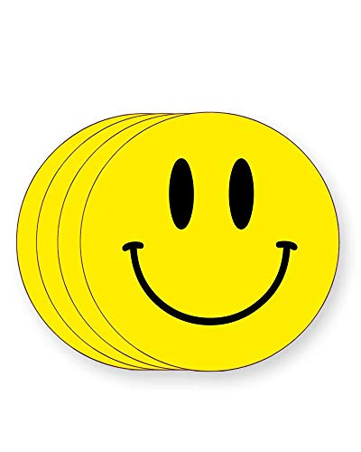 4 x Acid House Smiley Face Drinks Coasters