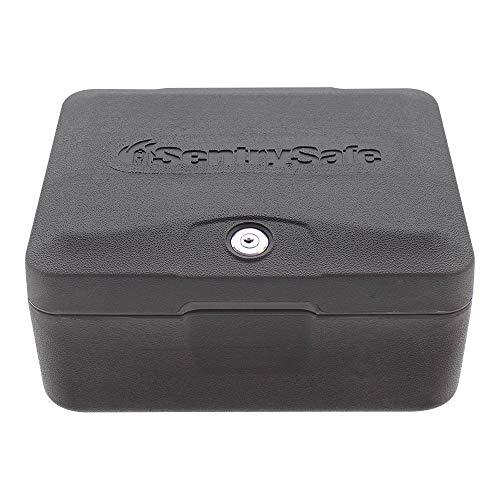 Rottner Feuerschutzkassette Sentry 0500 - 30 min geprüfter Feuerschutz - Zylinderschloss - Sicherheitskassette - Dokumentenbox