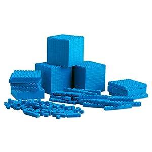 Learning Resources- Set de Base Diez para el Aula con Piezas encajables, Color (LER6358)