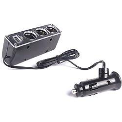 Acce2S - MULTI CHARGEUR AUTO + USB pour HTC MOZART 7 Seven COMPATIBLE GPS