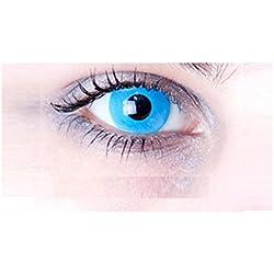 lentilles bleu ciel clair pour halloween de couleur annuelles valables 1 an sans correction fantaisie crazy déguisement