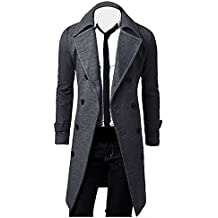 finest selection 28b03 2c1ae cappotto uomo lungo - Nero - Amazon.it