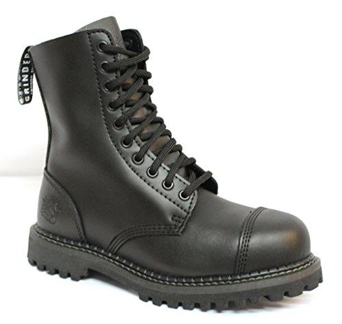 Grinders Stag Matte Noir sécurité embout métallique Unisexe militaire Punk Moto Bottes