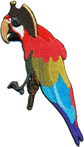 Papagai Parrot Piraten Augenklappe Hut Kostüm Applikation Aufnäher Patch (Piraten Kostüme Parrot)