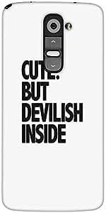 Snoogg Cute But Devilish Inside Designer Protective Back Case Cover For LG G2