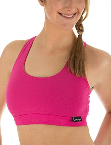 Winshape Damen Fitness Freizeit Sport BH Bustier, Pink, M, WVR1