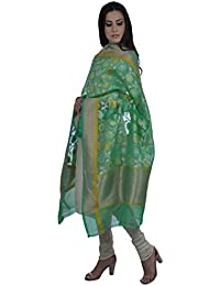 Talking Threads Women's Dupatta (TT-11731DUBNSKW_Green_Free Size)